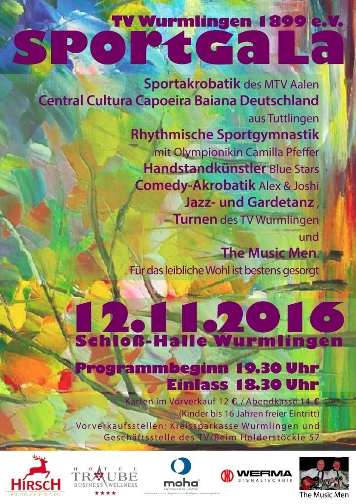 Sportgala 2016, Sportgala 2016 Einladung, Turnverein Wurmlingen, TV-Wurmlingen, Wir sind Turnen