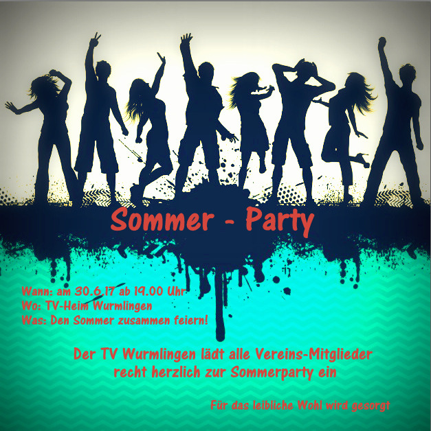 Turnverein Wurmlingen, TV-Wurmlingen, Wir sind Turnen, Sommer-Party