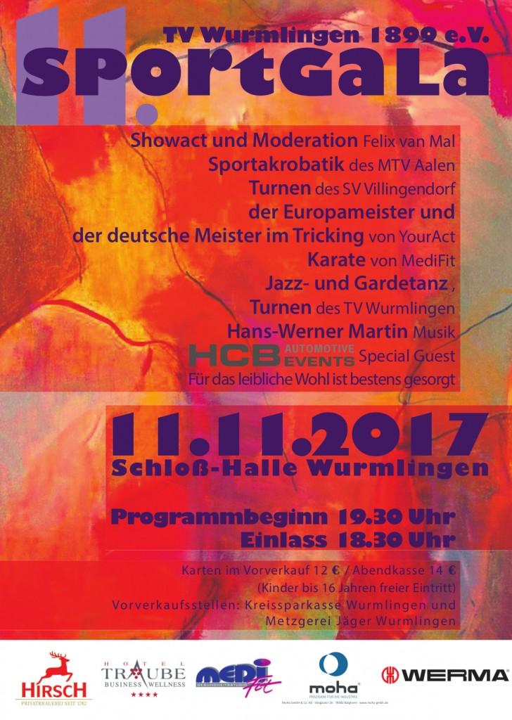 Sportgala 2017, Turnverein Wurmlingen, TV-Wurmlingen, Wir sind Turnen