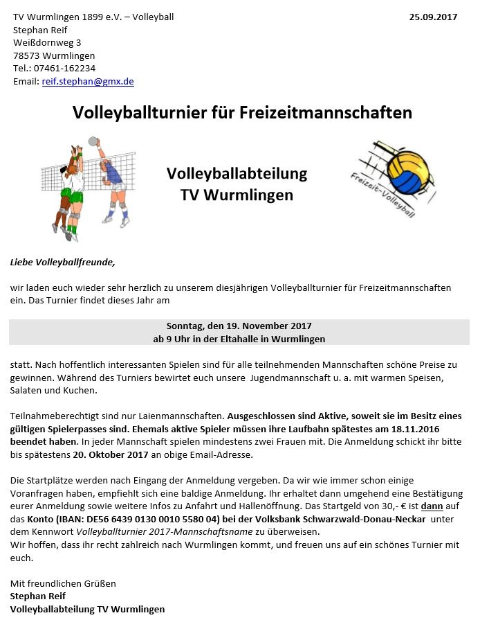 Volleyballturnier_2017